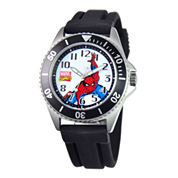 Disney Honor Mens Spiderman Black Silicone Strap Watch