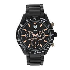 Zoo York® Mens Rose-Tone Black Bracelet Watch
