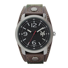 Zoo York® Mens Black and Brown Camo Strap Watch