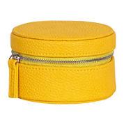 Mele & Co. Joy Sunflower Yellow Faux-Leather Jewelry Travel Case