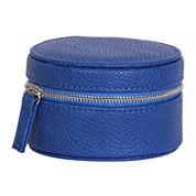 Mele & Co. Joy Blue Faux-Leather Jewelry Travel Case
