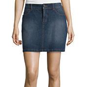 St. John's Bay® Tie Front Peasant Top or Denim Skirt