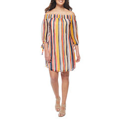a.n.a Off the Shoulder 3/4 Sleeve Shift Dress