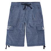 U.S. Polo Assn. Classic Fit Chambray Cargo Shorts - Big Kid Boys