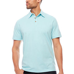 Island Shores Short Sleeve Solid Jersey Polo Shirt