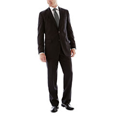 Stafford Travel Stretch Black Suit Separates-Slim Fit