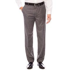 JF Gray Check FF Slim Pant