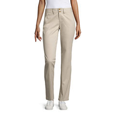 U.S. Polo Assn. Chino Flat Front Pants-Juniors