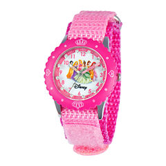 Disney Time Teacher Princesses Pink Fast Strap Watch
