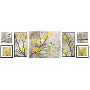 Yellow Botanical 7-pc. Wall Decor Set