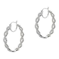 CZ by Kenneth Jay Lane Infinity Hoop Earrings