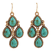 Art Smith by BARSE Green Turquoise Dangle Earrings