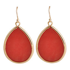 Art Smith by BARSE Orange Quartz Teardrop Earrings