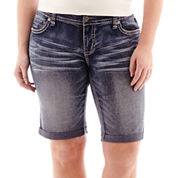 Ariya™ Curvy Denim Bermuda Shorts - Juniors Plus