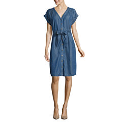 Melrose Short Sleeve Shirt Dress