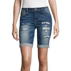 Almost Famous Denim Bermuda Shorts-Juniors