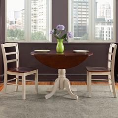 Dual Drop Leaf 3-pc. Round Dining Set