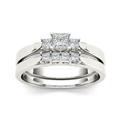 tw diamond 14k white gold bridal set - Jcpenney Jewelry Wedding Rings