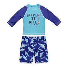 Shark Rash Guard Set - Toddler