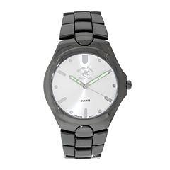 Beverly Hills Polo Club Mens Gunmetal Bracelet Watch