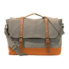 Two-Tone Canvas Messenger Bag
