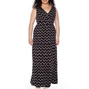 St. John's Bay® Sleeveless Surplice Peasant Maxi Dress - Plus