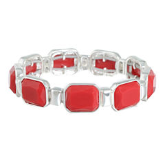 Liz Claiborne Womens Red Stretch Bracelet