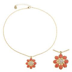 Monet Jewelry Orange Pendant