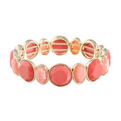 Monet Jewelry Womens Orange Stretch Bracelet