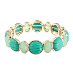 Monet Jewelry Womens Green Stretch Bracelet
