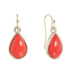 Liz Claiborne Orange Drop Earrings