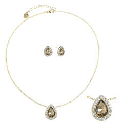 Monet Jewelry Womens 2-pc. Brown Jewelry Set