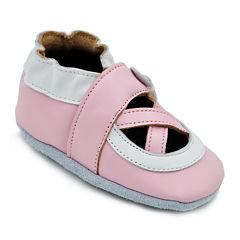 Momo Baby Ballerina Girls Crib Shoes-Baby