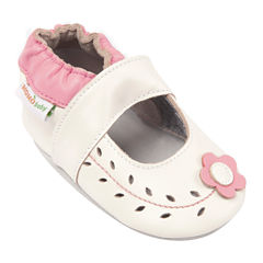 Momo Baby Cut Out Flower Mary Jane Girls Crib Shoes-Baby