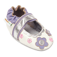 Momo Baby Flower Lace Mary Jane Girls Crib Shoes-Baby