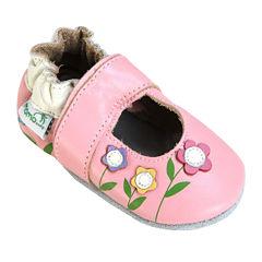 Momo Baby Lilies Mary Jane Girls Crib Shoes-Baby