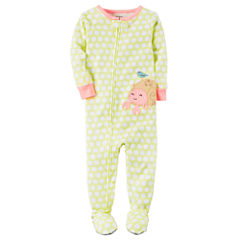 Carter's Long Sleeve One Piece Footie Pajama-Baby Girls