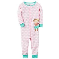 Carter's Long Sleeve One Piece Pajama-Toddler Girls