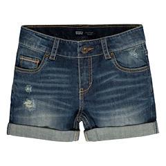 Levi's Denim At Waist Shortie Shorts - Big Kid Girls