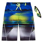 Zeroxposur Boys Pattern Swim Trunks-Big Kid