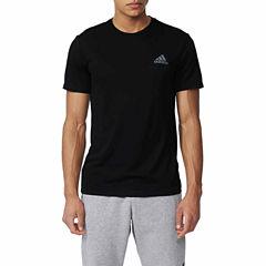 adidas Short Sleeve Round Neck T-Shirt-Athletic