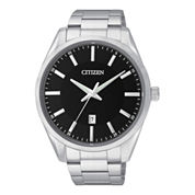 Citizen® Mens Black Dial Stainless Steel Watch BI1030-53E