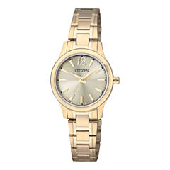Citizen® Womens Gold-Tone Stainless Steel Watch EL3032-53P