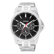 Citizen® Mens Black Dial Stainless Steel Watch AG8340-58E