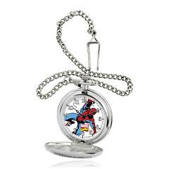 Marvel® Spider-Man® Mens Silver-Tone Pocket Watch
