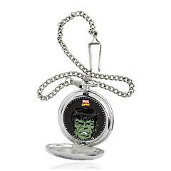Marvel® Hulk Mens Silver-Tone Pocket Watch