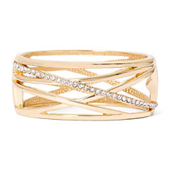 Worthington® Crystal Cutout Gold-Tone Cuff Bracelet