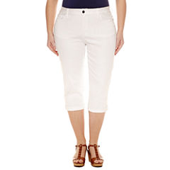 Plus Size White Capris & Crops for Women - JCPenney