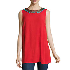 Alyx Sleeveless Neck Trim Top