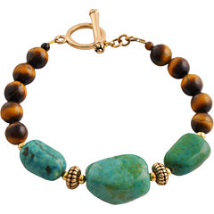 Art Smith by BARSE Turquoise & Tiger's Eye Bracelet